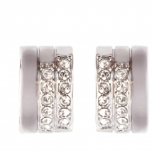 施华洛世奇官方定制系列Crystal Pavé Pierced Earrings