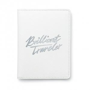 "施华洛世奇(SWAROVSKI)纯白系列商务礼品  Passport Cover Brilliant Traveler 护照夹""Brilliant Traveler"""